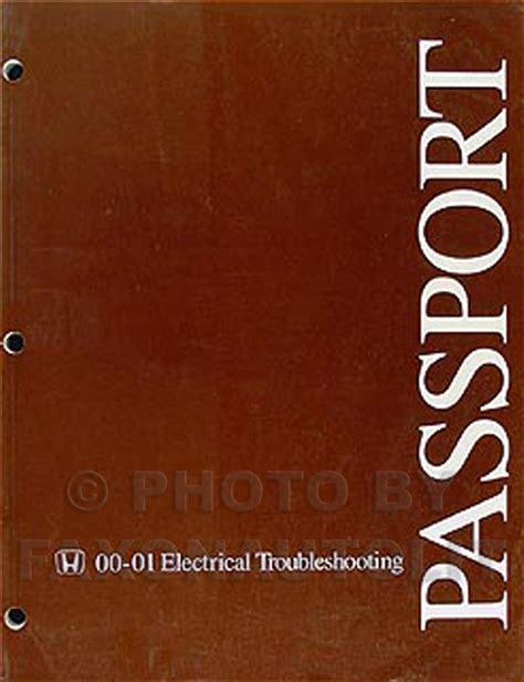 electric and cars manual 2001 honda passport free book repair manuals 2000 2001 honda passport electrical troubleshooting manual original