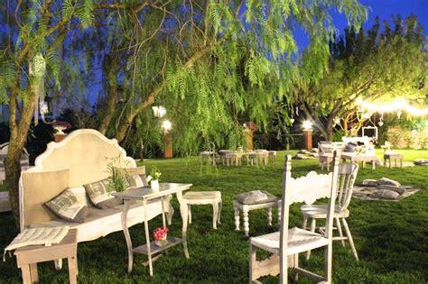 matrimonio giardino shabby chic per il ricevimento di matrimonio