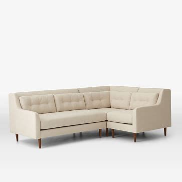 crosby sectional crosby 3 piece sectional west elm