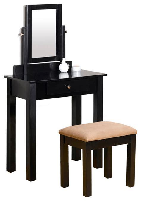 black bedroom vanity table clean line make up table vanity set dresser w adjustable