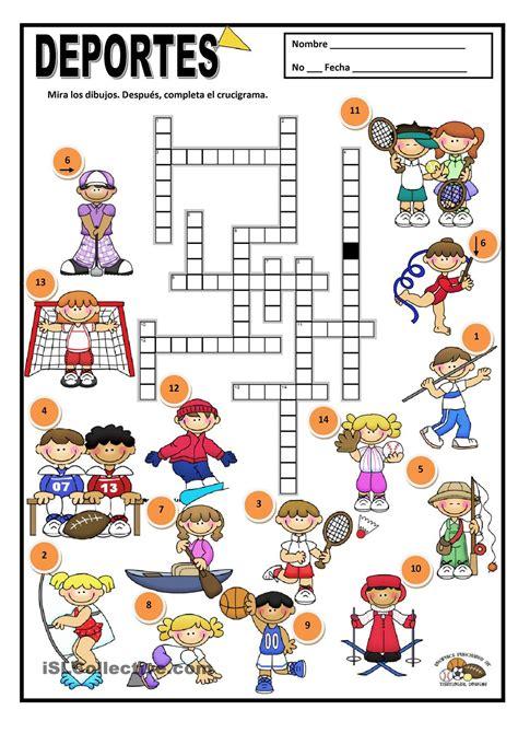 Deportes Y Am by Deportes 2do Primaria Deporte Crucigramas