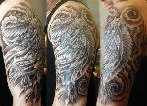 black and grey phoenix tattoo designs black and grey by nicki saz studio