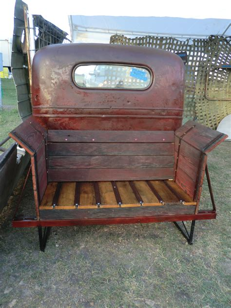 truck bed bench 1937 chevrolet truck turned into a bench seat jason
