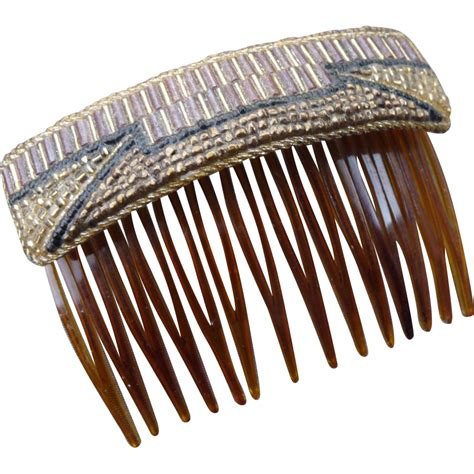 long nights french comb large metal hair comb with vintage french beaded hair comb from hiptobeold on ruby lane