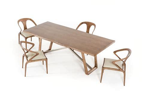 walnut dining table chairs modrest modern walnut dining table