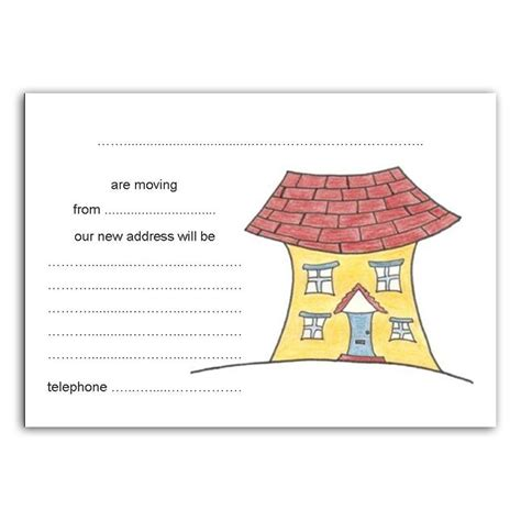 moving home cards template change of address new house moving moved home blank