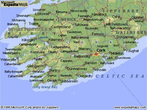 county cork ireland map cork county map area map of ireland city regional political