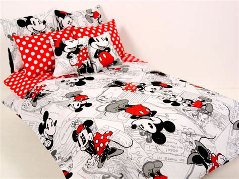 mickey and minnie bed set mickey minnie mouse barbie doll bedding set by