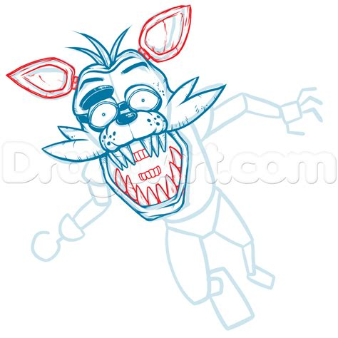 how to draw five nights at freddy s learn to draw fnaf books draw foxy the fox five nights at freddys step by step