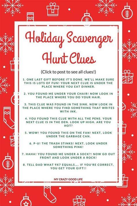 santa riddles scavenger hunt clues great for extending present time scavenger hunt