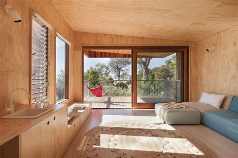 Plywood Interior Wall Finish by Awesome Timber Shack Finished In Plywood
