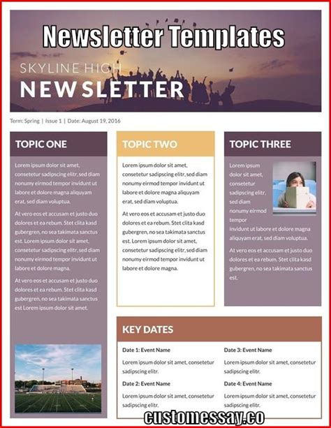 Best Newsletter Templates Best Newsletter Templates 2017