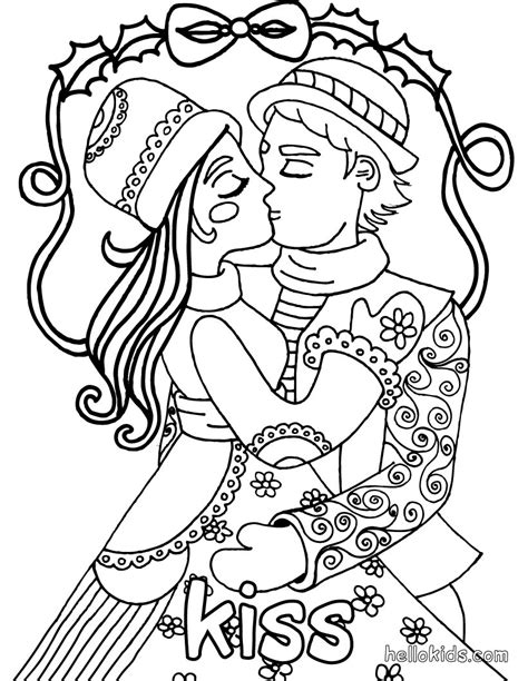 sketches of teens kissing coloring pages