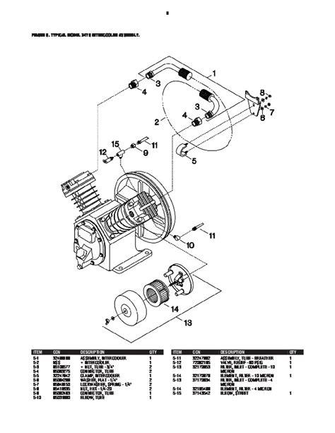 ingersoll rand  air compressor parts list