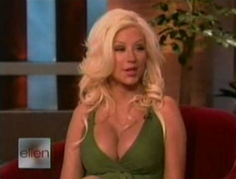 When Does Ellen Tape Her 12 Days Of Giveaways - cele bitchy christina aguilera reveals some crazy cleavage on ellen links