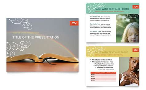 christian church religious brochure template word