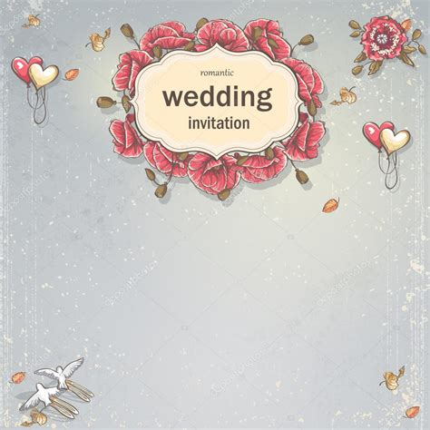 Wedding Card Background by Wedding Invitation Card For Your Text On A Gray Background