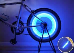 bike spoke lights bike bicycle wheel tire spoke led safety light blue ebay