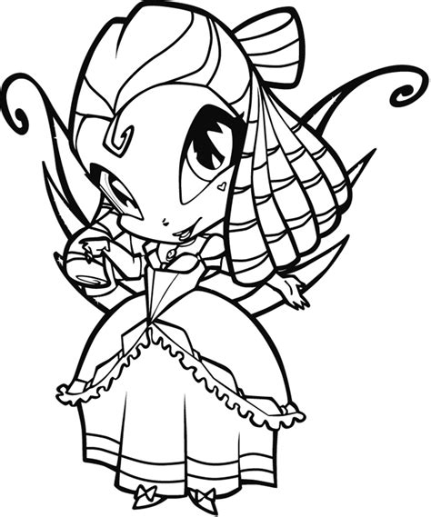 free coloring pages of winx poppixie
