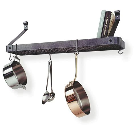 Corner Hanging Pot Rack enclume 174 premier 4 oval hanging pot rack 226476 kitchen dining at sportsman s guide