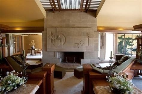 Hollyhock House by Hollyhock House Interior Frank Lloyd Wright Arts And
