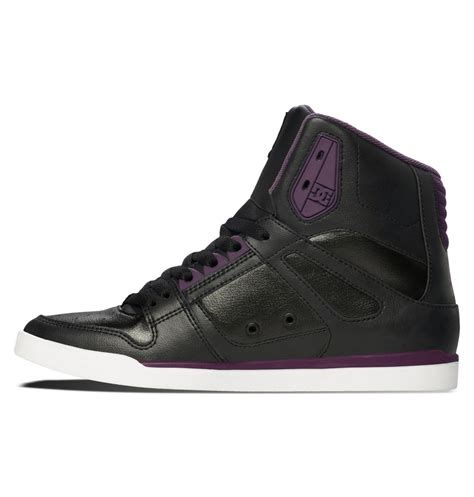 dc shoes rebound slim high hi cupsole shoe for