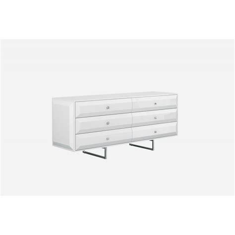 abrazo modern white dresser by whiteline