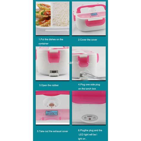 kotak makan dengan pemanas listrik 12v green jakartanotebook
