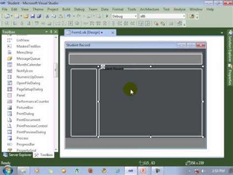 layout design visual studio visual studio 2010 tutorial form design youtube