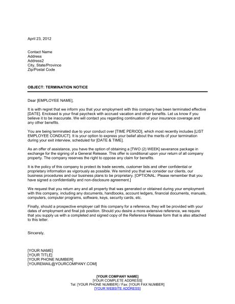 termination letter consulting agreement notice of termination template sle form biztree
