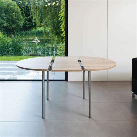 table de cuisine ronde en stratifi 233 avec rallonge basic