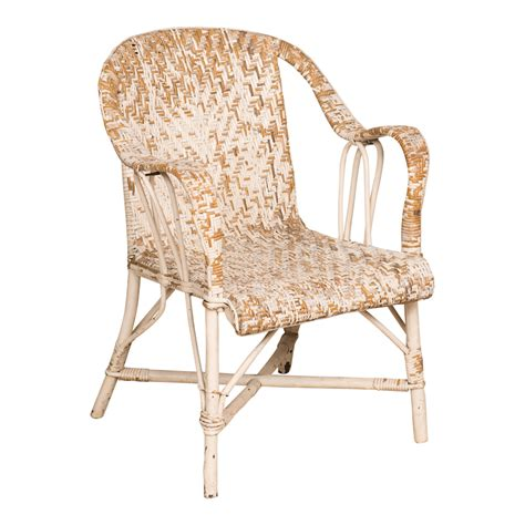 white wicker armchair white rattan armchair the found shop