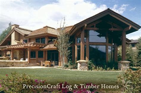 hawksbury timber home plan by precisioncraft log timber custom timber frame home design located in sun valley