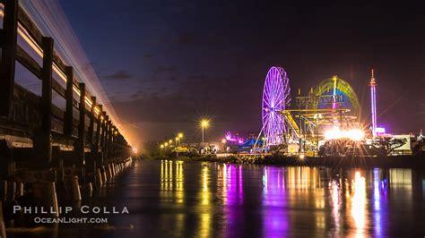 San Diego County Fair At Night Del Mar California Mar Fairgrounds Lights
