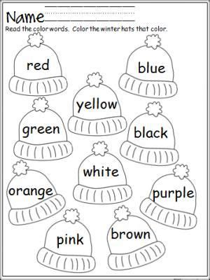 Pre K Coloring Pages Pdf by Free Winter Hats Coloring Activity That Provides Practice