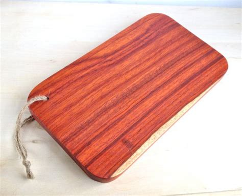 padauk wood cutting board serving tray exotic cutting