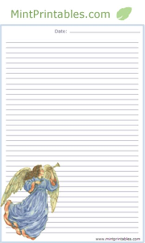 printable angel stationery free printable letter writing paper