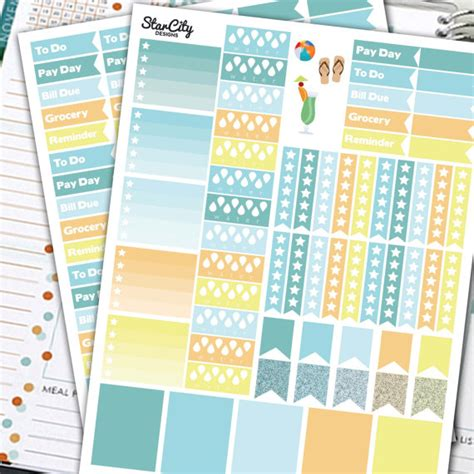 printable event stickers printable planner stickers event flags pdf ec checklist