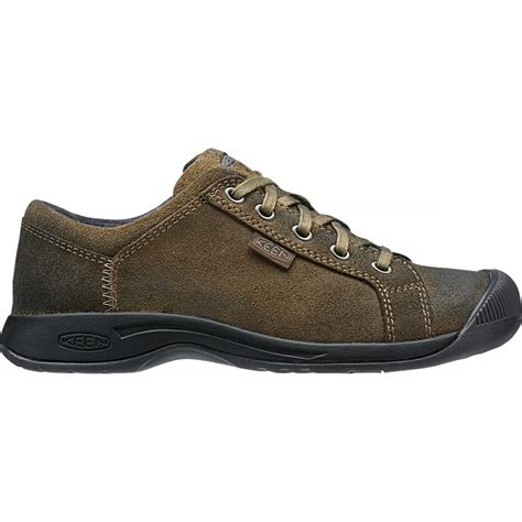 keen womens reisen lace cascade brown leather shoe with