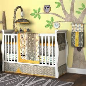 Neutral Baby Bedding With Owls Dk Leigh My Baby Hoo Owl 7 Crib Bedding Set