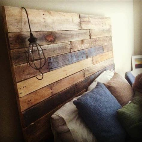 headboard with pallets diy rustic pallet headboard 99 pallets