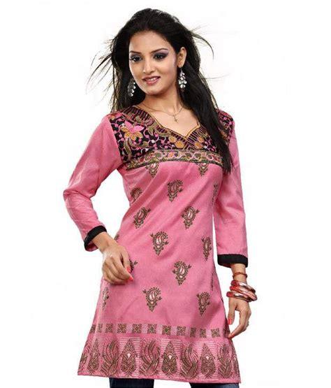 globus pink cotton printed boat aabha pink printed cotton kurti buy aabha pink printed cotton kurti at low price