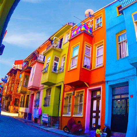 colorful houses colorful houses fener balat istanbul by altug