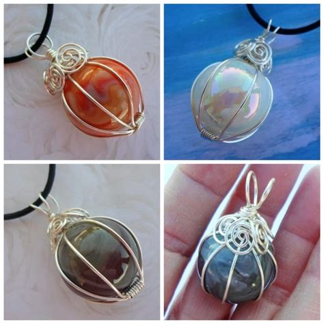 diy wire jewelry diy wire wrapped marble necklace
