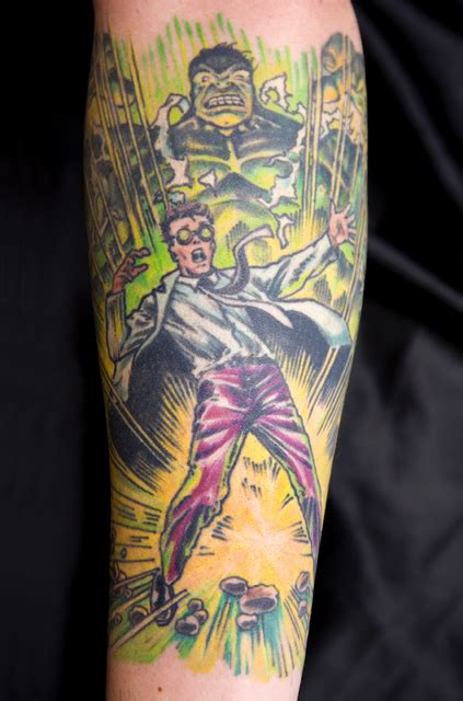incredible hulk tattoos the and robert bruce banner geeky
