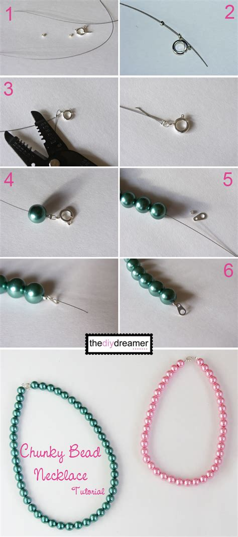 a better place to bead chunky bead necklace tutorial the d i y dreamer