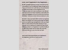 Love, Your Happiness Is My Happiness..... Poem by Ravi ... Graduation Speeches