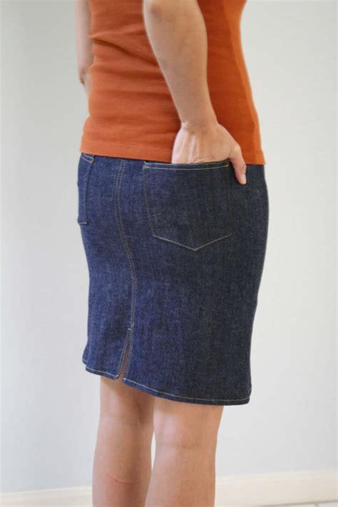 Pattern For Skirt From Jeans Tutorial | denim skirt tutorial melly sews