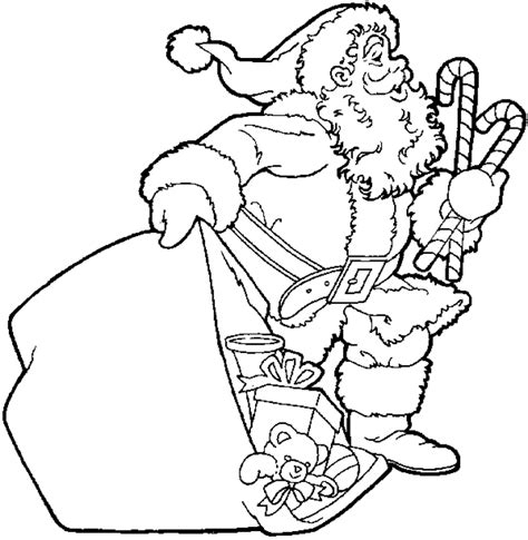 coloring pictures of father christmas santas coloring pages