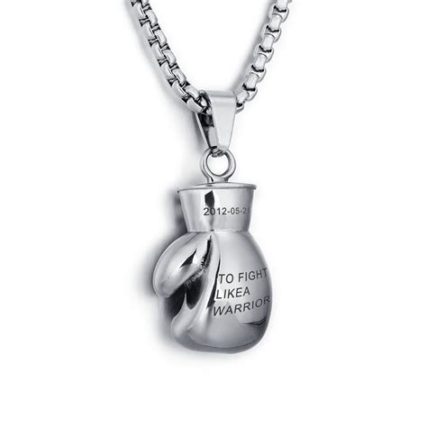 Cool Coach Jewelry by Personalized Engrave Lovely Mini Boxing Glove Necklace